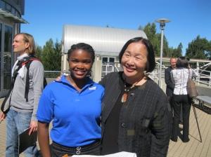 Simone and Mayor of Oakland Jean Quan