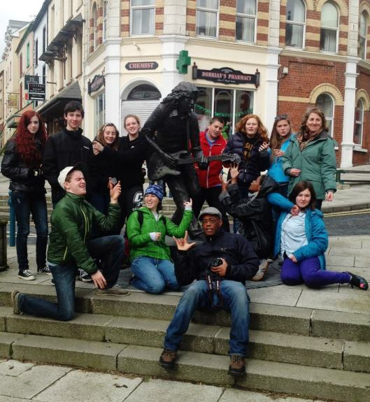 Rory Gallagher statue at Ballyshannon
