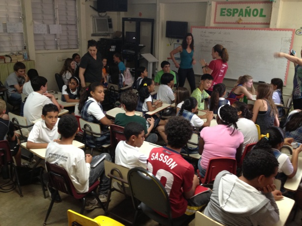 Teaching at a local school in Puerto Rico
